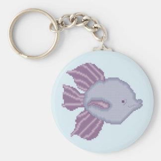 Porte - clé tropical pourpre et violet de poissons porte-clé rond