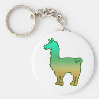 Porte - clé tropical vert de lama porte-clés