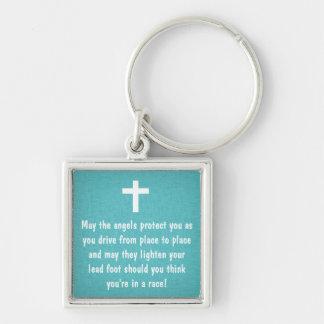 Porte - clé turquoise de bénédiction de la prière porte-clés