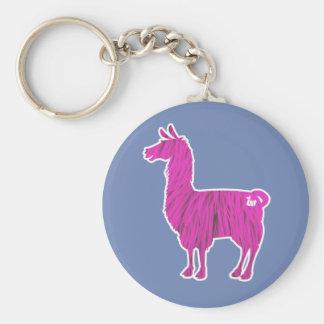 Porte - clé velu rose de lama porte-clés