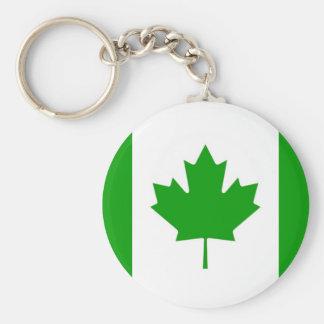 Porte - clé vert de Canada-Drapeau Porte-clé Rond