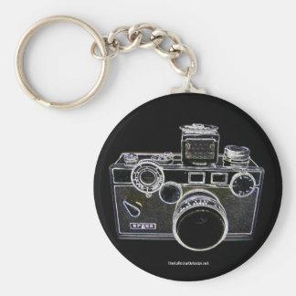 Porte - clé vintage d'appareil-photo d'Argus Porte-clé Rond