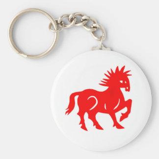 Porte - clé : Zodiaque rouge de Chinois de cheval Porte-clés