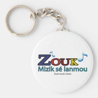 Porte Clé : ZOUK, Mizik sé lanmou Porte-clé Rond