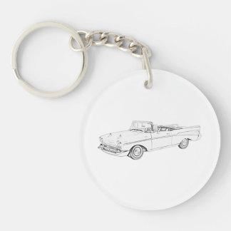 Porte-clefs Acrylique 1957 convertible de dessin de Bel Air de