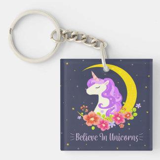 Porte-clefs Adorable croyez au porte - clé de licornes