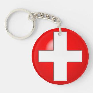 Porte-clefs Alerte médicale - rouge