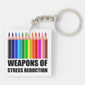 Porte-clefs Armes de la coloration de réduction du stress