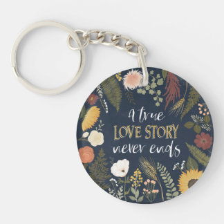 Porte-clefs Automne V Romance | que Love Story vrai ne finit