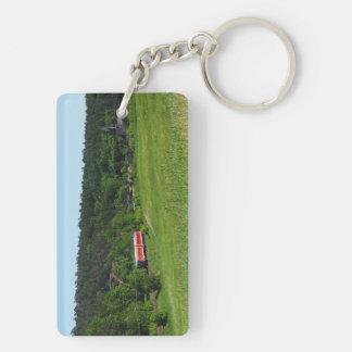 Porte-clefs Automotrice avec le champ de pré