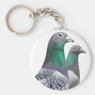 Porte-clefs avec paire de pigeons voyageur