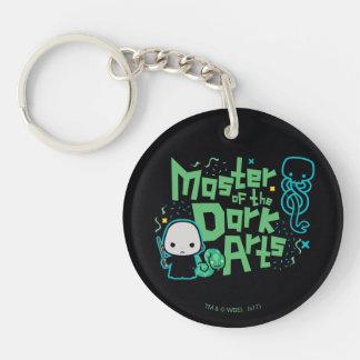 Porte-clefs Bande dessinée Voldemort - maître des arts foncés