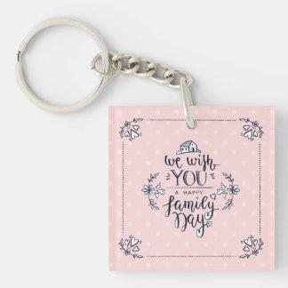 Porte-clefs Beau porte - clé heureux de jour de famille