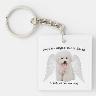Porte-clefs Bichons sont porte - clé d'anges