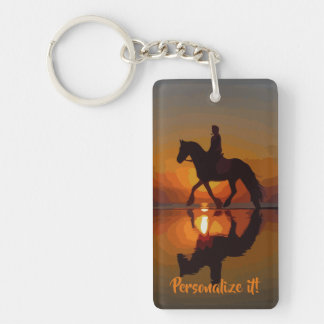 Porte-clefs Cadeau personnalisé pour l'équitation du cheval