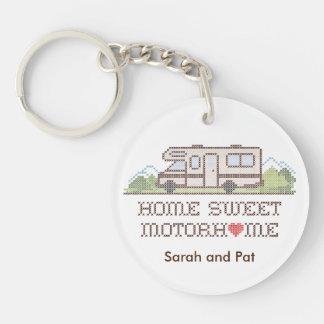 Porte-clefs Camping-car doux à la maison, voyage par la route