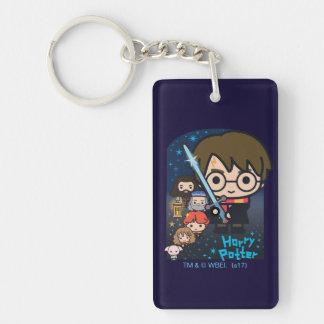 Porte-clefs Chambre de Harry Potter de bande dessinée des