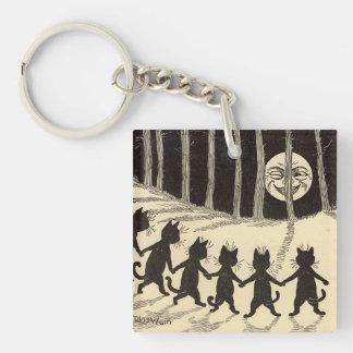 Porte-clefs Chats dans le porte - clé de clair de lune