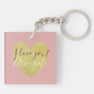 Porte-clefs Conduisez je t'aime le porte - clé sûr de coeur