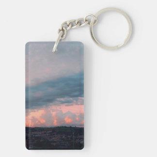 Porte-clefs Coucher du soleil majestueux au Pays de Galles