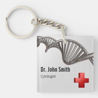 Porte-clefs Croix-Rouge médicale professionnelle d'ADN - porte