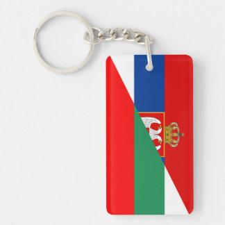 Porte-clefs de symbole de pays de drapeau de la Serbie