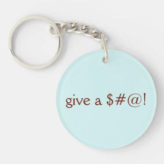 Porte-clefs Donnez un $#@ ! , Vont le végétalien