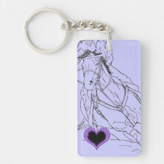 Porte-clefs Double coureur de baril de Purple Heart