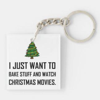 Porte-clefs Faites les films cuire au four de Noël de montre