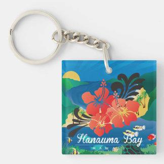 Porte-clefs Fleurs de ketmie d'Hawaï