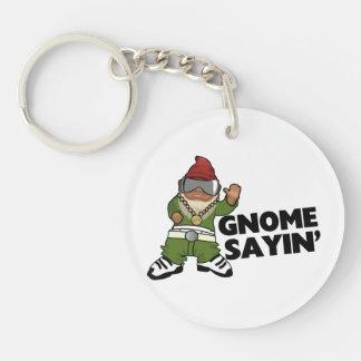 Porte-clefs Gnome drôle de butin de Sayin de gnome