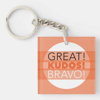 Porte-clefs Grand ! Félicitations ! Bravo ! Porte - clé carré,