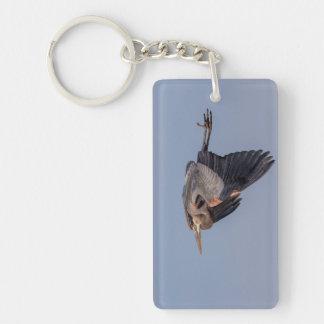 Porte-clefs Héron de grand bleu en vol