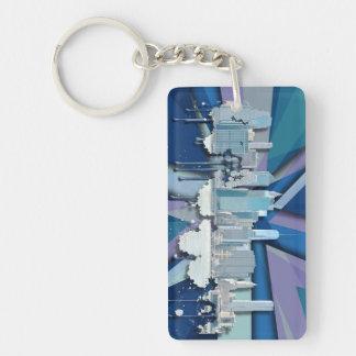 Porte-clefs Horizon | 3D bleu de New York City