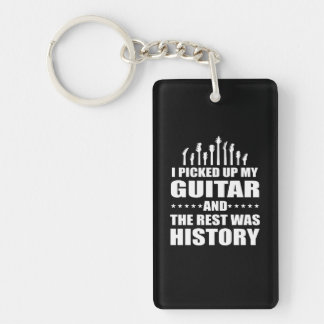 Porte-clefs J'ai pris la guitare et le repos était histoire
