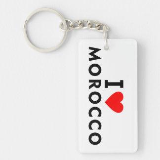 Porte-clefs J'aime le pays du Maroc comme le tourisme de