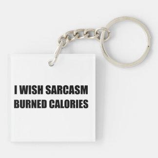 Porte-clefs Je souhaite des calories brûlées par sarcasme