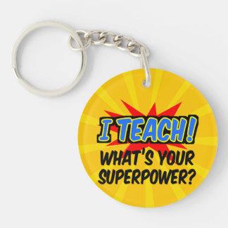 Porte-clefs J'enseigne ce qui est votre professeur de super