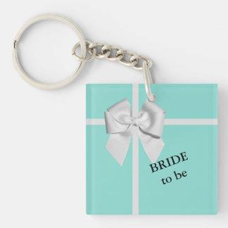 Porte-clefs JEUNE MARIÉE et Co bleues et jeune mariée blanche