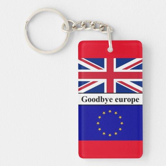 Porte-clefs Keychain Goodbye Europe