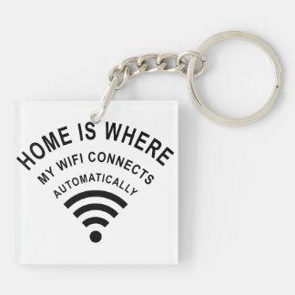 Porte-clefs La maison est où mon wifi se relie automatiquement