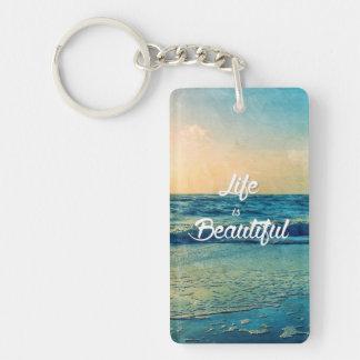Porte-clefs La vie est belle