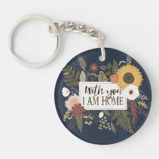 Porte-clefs L'automne III Romance | avec vous je suis maison