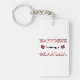 Porte-clefs Le bonheur est une grand-maman
