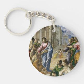 Porte-clefs Le Christ guérissant les aveugles