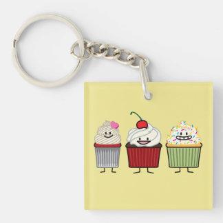 Porte-clefs Le givrage de famille de petit gâteau arrose le