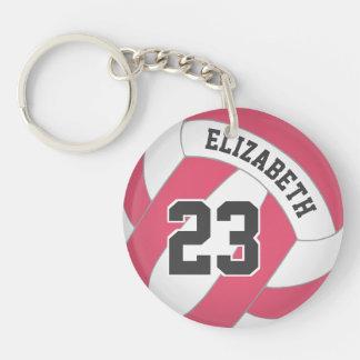 Porte-clefs le volleyball des femmes son nom toute étiquette