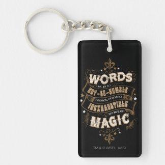 Porte-clefs Les mots du charme   de Harry Potter sont notre la