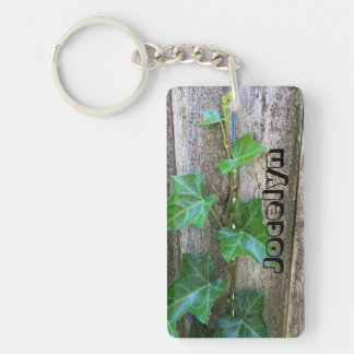 Porte-clefs Lierre sur le bois personnalisé