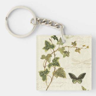 Porte-clefs Lierres et papillons